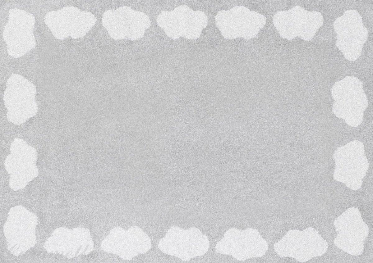 Preproga z oblački (siva)