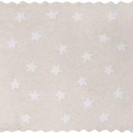 Bež preproga z belimi zvezdicami