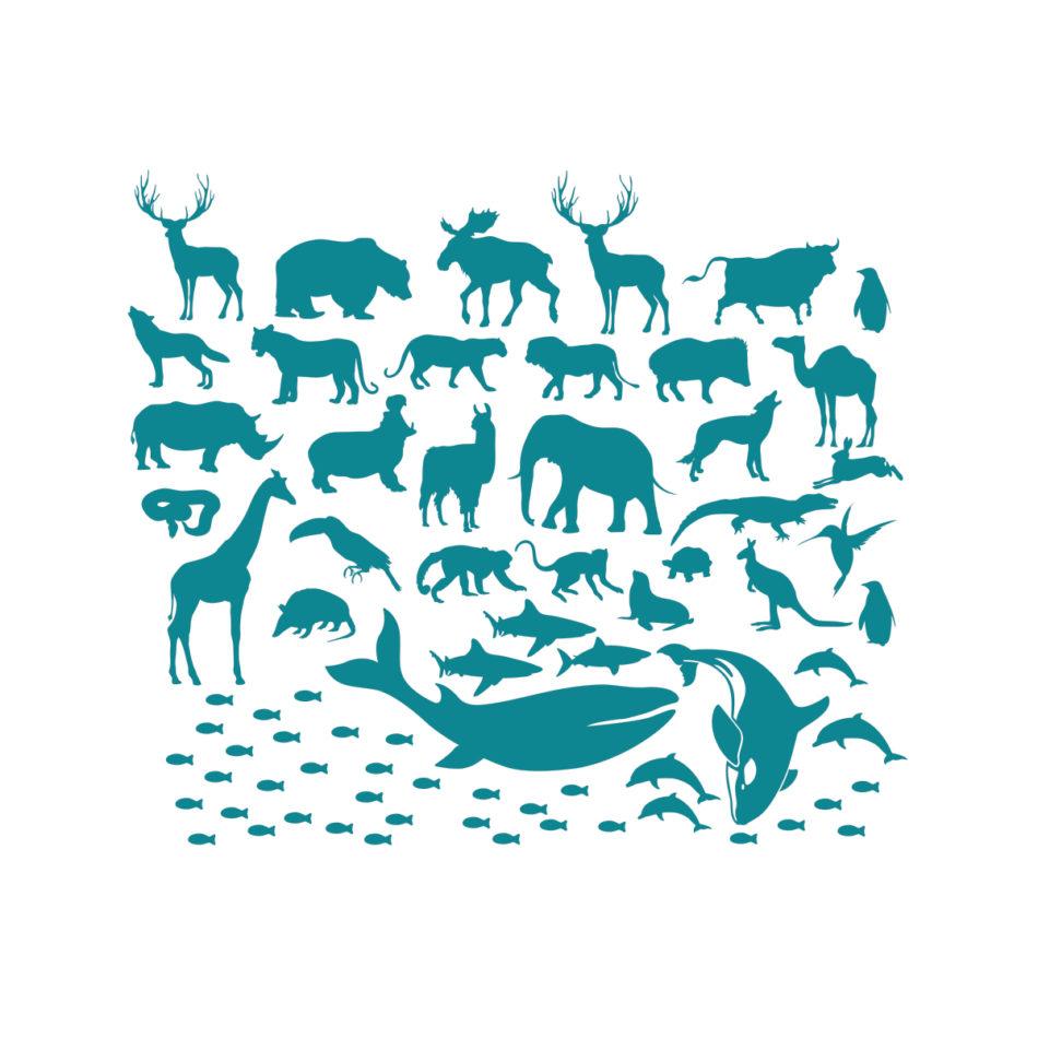 stenske-nalepke-živali-modre