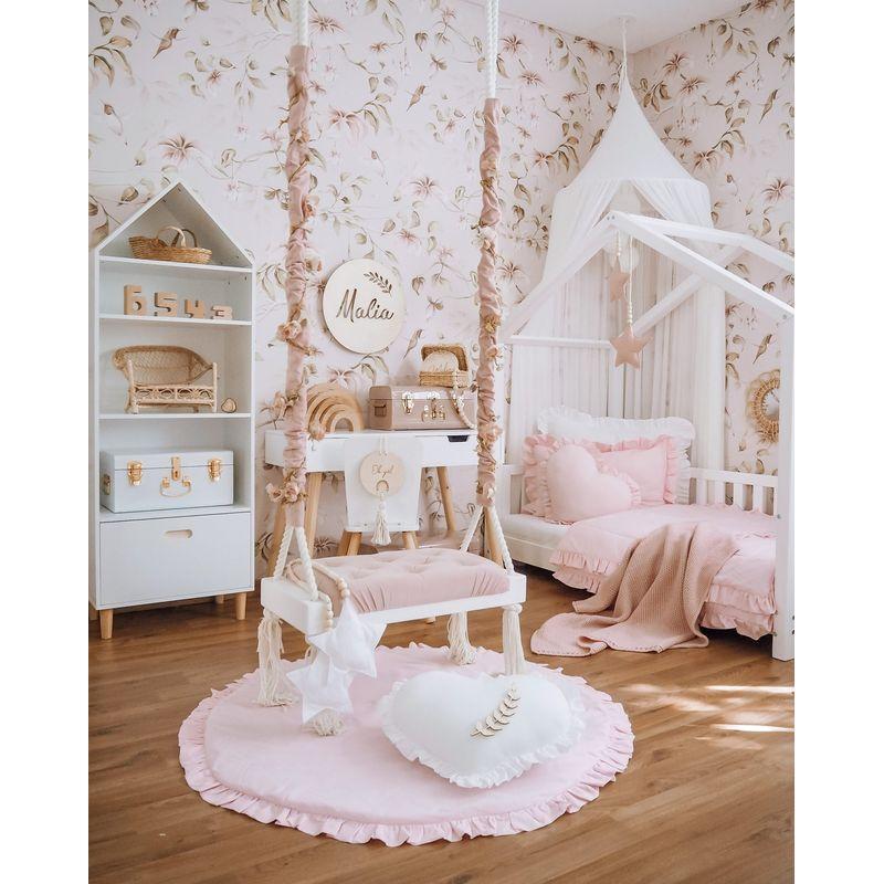 pudrasto roza posteljnina 1