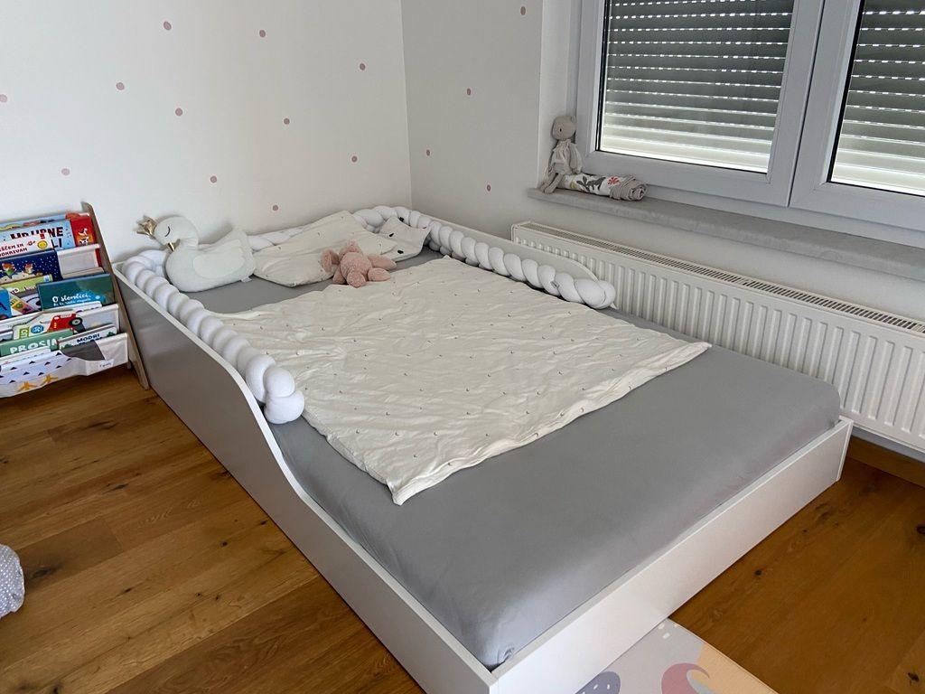 Nizka postelja po montessori